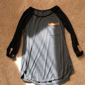 Staccato Black and Grey 3/4 Sleeve